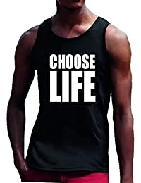 5e5a3abd5f462b Choose Life Vest Beach Summer T Shirt Tee Top Wham Retro George Michael 80 s  XX