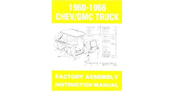 1963 1964 1965 1966 Chevy Pickup Truck Montage Manuelle Buch ...