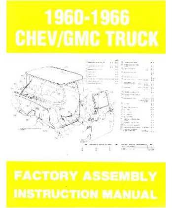 1963 1964 1965 1966 Chevy Pickup Truck Montage Manuelle Buch Illustrationen