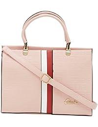 ESBEDA Pink Solid Pu Synthetic Fabric Handbag For Women