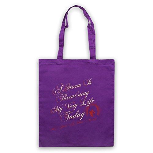 Inspiriert durch Rolling Stones Gimme Shelter Inoffiziell Umhangetaschen Violett