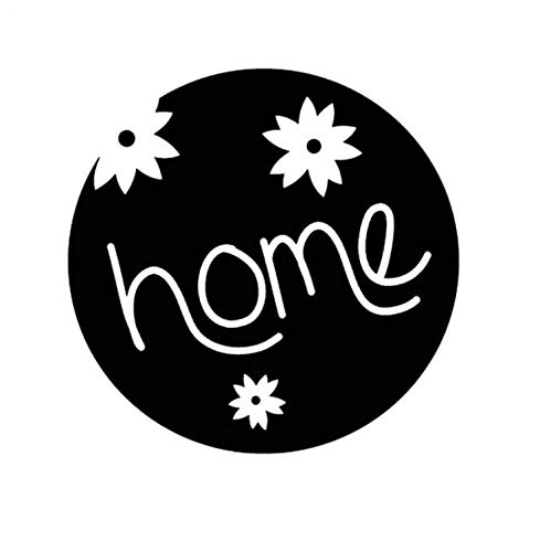 ZZYQING Auto Aufkleber Home mit Blumen dekoriert Schöne und einfache Vinyl Autofenster Aufkleber 14X14cm 2 Stück