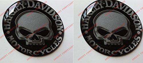 Harley-Davidson Aufkleber Willie G Skull, harzbeschichtet, 3D Effekt.Für Tankdeckel oder Helm.