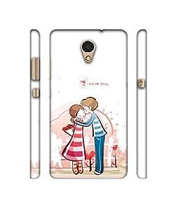 Casotec Boy Kissing Girl Design 3D Printed Hard Back Case Cover for Lenovo P2