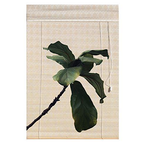 TINGTING Fensterläden, Benutzerdefinierte Bambus-Rollos - Nordic Natural Woven Window Blind Sunshade Partition Pflanze Blumendekoration (Farbe : Style 16, größe : 1 * 1M) -
