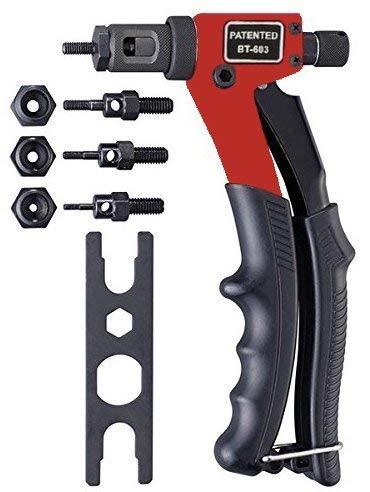20,3cm rivets aveugles Pince à riveter Rivet Gun, outils de rivetage avec système de réglage Écrou M3M4M5M6