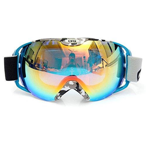 Kungfu Mall Unisex Anti Fog UV Doppelscheibe Winter Racing Outdooors Snowboard Skibrille Sun Glassess CRG80-8A