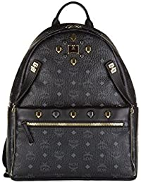 MCM sac à dos femme en cuir dual stark noir