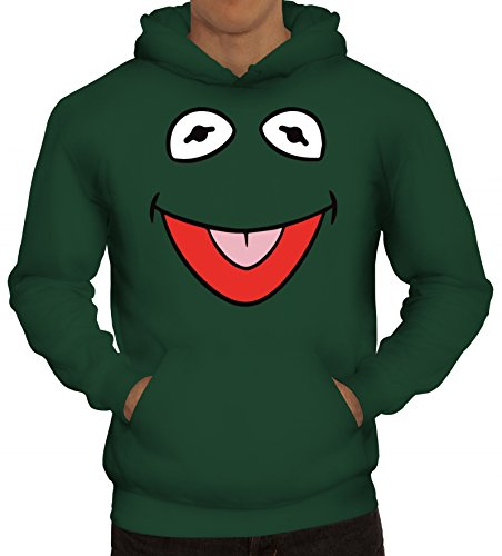 Fasching Verkleidung Kapuzenpullover Gruppen & Paar Frosch Kostüm, Größe: L,dunkelgrün (20 Paar Kostüm Ideen)