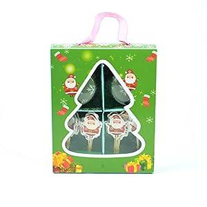 Gifts 4 All Occasions Limited SHATCHI-849 - Juego de 4 cajas para tazas de Navidad, diseño de palillos de dientes, multicolor