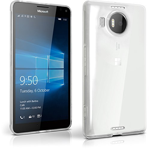 Igadgitz u4199 custodia tpu per microsoft lumia 950xl cover con pellicola - trasparente