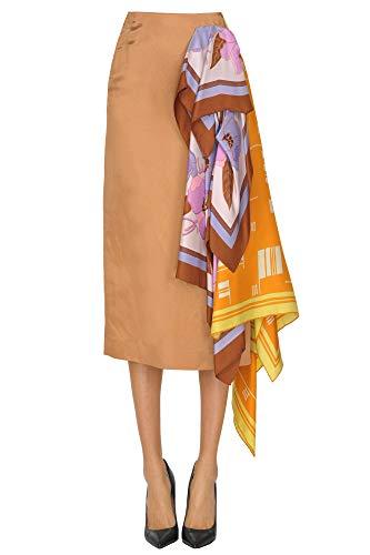 Dries van Noten Textured Fabric midi Skirt Woman Bronze 34 FR