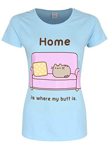 Pusheen Home (Blue) Girlie T-Shirt M