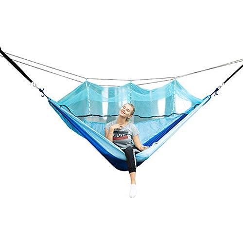 ZYZ Ultraleichte Moskito Netz Camping Hängematte / 300kg Tragfähigkeit,Atmungsaktiv, schnell trocknende Fallschirm Nylon, überlebensfähig, wandernd, Tourismus, Angeln - Scrollen Leinwand
