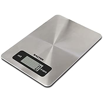Salter Digital Kitchen Weighing Scales Stainless Steel