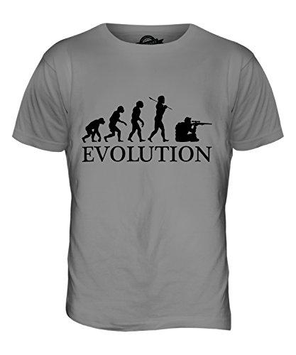 CandyMix Scharfschütze Evolution Des Menschen Herren T Shirt Hellgrau
