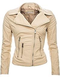 09d0fda3ae46 Golden Brands Selection Damen Kunstleder Jacke Sommer Übergangs Kunst Leder  Jacke Jacket B143