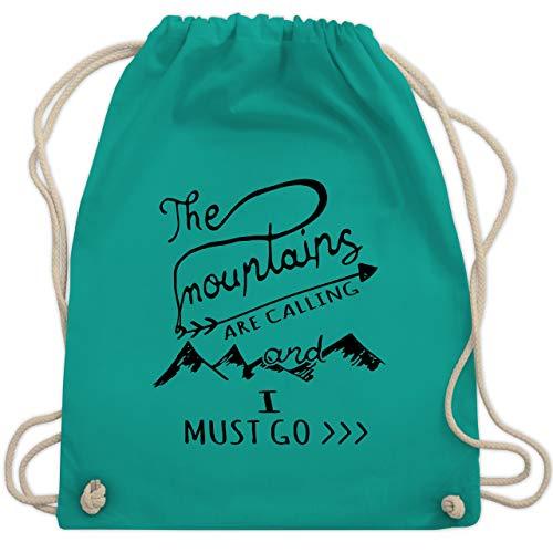 Wintersport - The Mountains are calling - Unisize - Türkis - WM110 - Turnbeutel & Gym Bag