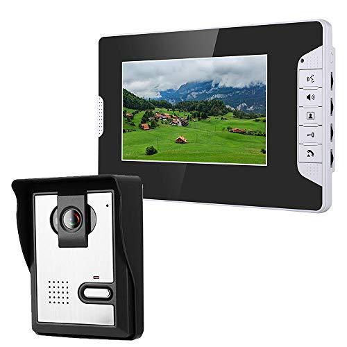 XH&XH 7 Zoll Video Türsprechanlage Freisprechanlage Zugriffskontrollsystem Kit Infrarot Nachtsicht HD Kamera Heimsicherheitsmonitor Elektroschlosssteuerung Lautstärke/Helligkeit/Kontrast einstellbar -