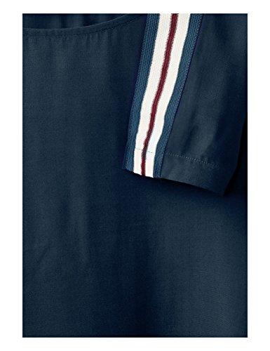 Street One Gallon-Stripe, Blouse Femme Blau (Night Blue 10109)