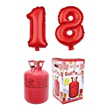 Party Factory Ballongas Helium 420 Liter im Set mit Folienballon 18