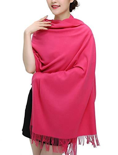 Haar-maske Essen (TFENG Damen Schal, 19 Farben Frauen Weich Elegant Stola Schal Tuch, übergroßer Deckenschal Herbstschal Winterschal)