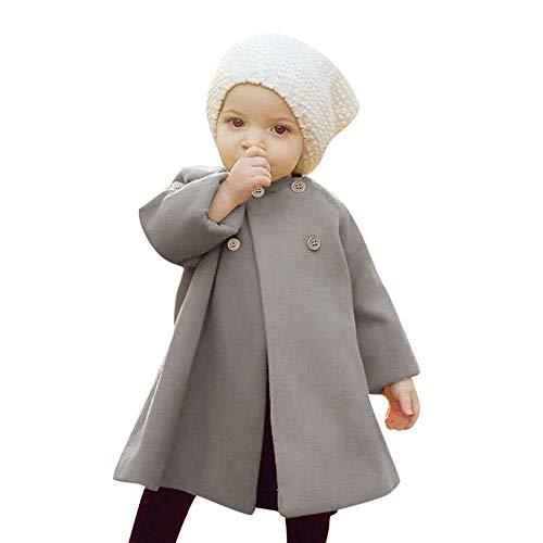 i-uend Baby 2019 New Coat - Herbst Winter Mädchen Kinder Baby Outwear Mantel Knopfjacke Warme Mantel Kleidung Für 0-5 Jahre - Lockenstab 3 1 4