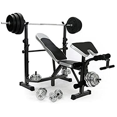 Homgrace Fitness All-in-One Dumbbell/Barbell Weight Bench Multi-Function Workout Machine Multiuse Training Bench with Butterfly & Preacher Curl for Gym & Indoor from Homgrace
