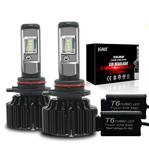 Modify-GT 9012 Hir2 LED Ampoules de Phare kit de Conversion 6500 K Blanc Froid 72000 lumens CSP Chips Feux de Brouillard/Faible Faisceau Ampoule de Phare de Remplacement + Canbus-2 Ans de Garantie