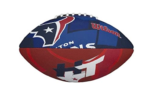 Wilson NFL Junior Team Logo Football (Houston