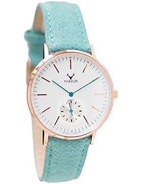 Makelos - Rød MYNTE - Armbanduhr mit wechselbarem Armband Gehäuse aus poliertem Edelstahl Ø 40 mm - roségold Japanisches...