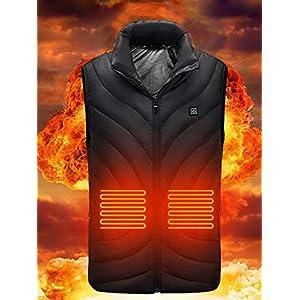 AUTOECHO Elektrisch beheizte Weste, USB-Aufladung Elektrisch beheizte Jacke Maschinenwaschbar, Temperatur einstellbar…