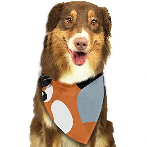 Rghkjlp Cute Animal Fox Dabbing Pet Bandana Washable Reversible Triangle Bibs Scarf - Kerchief for Small/Medium/Large Dogs & ()