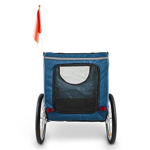 """DURAMAXX King Rex Fahrradanhänger Lasten Hänger Hundehänger (mit Hochdeichsel, Laderaum mit 250 Liter Volumen, belastbar bis 40kg, Kugel-Kupplung für Fahrräder mit 26"""" – 28"""") blau-schwarz - 4"""