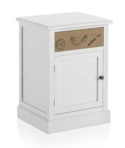 GEESE 7602 - Mesita, 1 cajón y puerta, madera