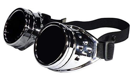 FashionLDN Steampunk Cyber-Schweißerbrille, Gruftistil, Cosplay, Vintage, rustikal
