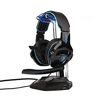 2018 Newest SADES SA810 Gaming Headset Over Ear Stereo Headphones Bass Gaming Headphones with Noise Isolating Microphone Volume Control for Xbox One PS4 PC Laptop Mac Mobile(Stand Not Included)