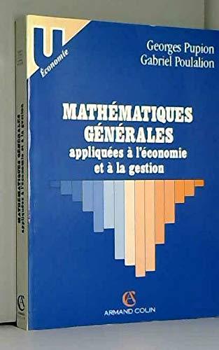 Mathématiques générales appliquées à l'économie et à la gestion