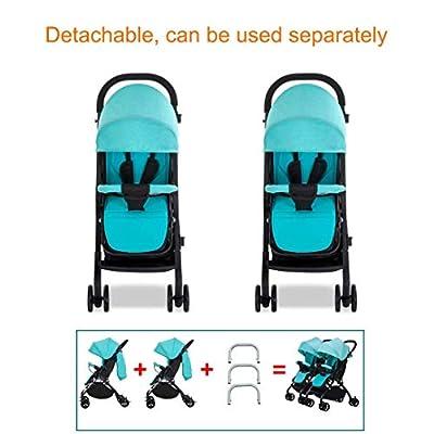 JYWXK - Cochecito de bebé para niños, Desmontable, Ligero, Ajustable, con Respaldo Plegable, con Doble Carrito, D