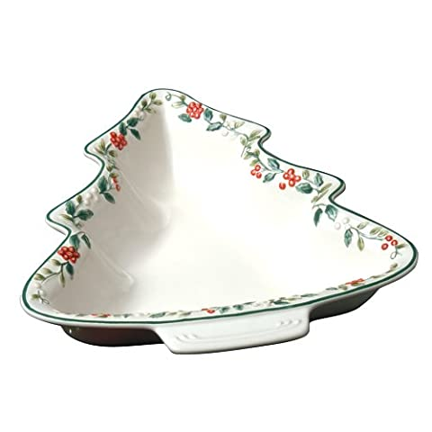 Pfaltzgraff Winterberry Tree Shaped Sculpted And Handpainted Serve Bowl by Pfaltzgraff