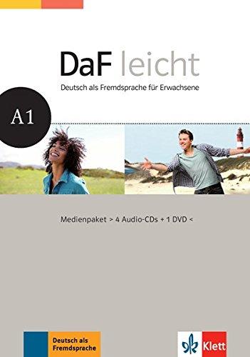 DaF leicht A1: Deutsch als Fremdsprache für Erwachsene. Medienpaket (4 Audio-CDs + DVD) (DaF leicht/Deutsch als Fremdsprache für Erwachsene)