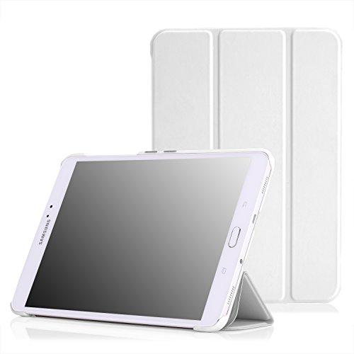 MoKo Samsung Galaxy Tab S2 8.0 Hülle - Ultra Slim PU Leder Tasche Schutzhülle Schale Smart Case mit Auto Sleep / Wake up Funktion und Standfunktion für Galaxy Tab S2 - Tablet Weiß