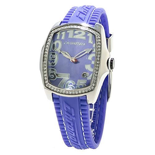 Chronotech orologio analogico quarzo donna con cinturino in gomma ct7016ls-12