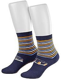 Piarini - 2 pares de calcetines para niño y niña - Rizo y ABS - Varios colores