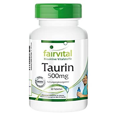 Fairvital - Taurine 500mg - 60 Vegetarian Tablets by fairvital
