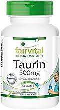 fairvital - 60 pastillas vegetarianas de taurina (500 mg)
