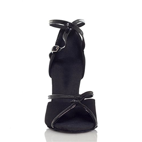 Minitoo Damen Tanzschuhe Schwarz 7,5 cm Absatz - 3