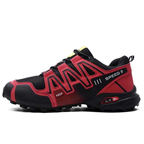 Logobeing Zapatillas de Senderismo Hombre Aire Libre y Deporte Zapatillas de Malla Transpirables Zapatillas...