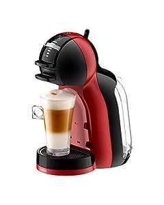 Krups Nescafé Dolce Gusto Mini Me KP120H Kapsel Kaffeemaschine (für heiße und kalte Getränke, 15 bar Pumpendruck, automatische Wasserdosierung, Flow-Stop Technologie, 0,8 l Wassertank) rot/schwarz