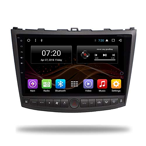 2.5D IPS Android 8.1 Octa Core Car DVD Radio GPS Navigation for Lexus IS250 IS200 IS220 IS300 Stereo Audio Navi Video with Bluetooth Calling WiFi Touch Screen (Android 8.1 4/64G for Lexus IS250) Lexus Radio